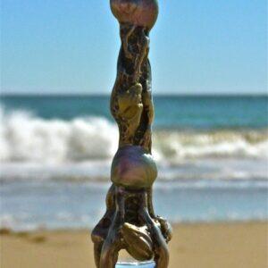 sea shell wand pendant pewter 11